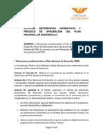 ALGUNAS REFERENCIAS NORMATIVAS Y PROCESO DE APROBACIÓN DEL PLAN NACIONAL DE DESARROLLO