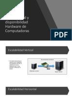 Escalabilidad y Disponibilidad Hardware de Computadoras