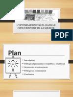 L'OPTIMISATION FISCAL DANS LE FONCTIONNENT DE LA SOCIETE.pptx