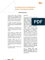 1a Pesquisa YouDb Sobre Redes Sociais e Tecnologias Afins - 17p