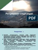 Kesesuaian Manajemen Lingkungan Dan k3