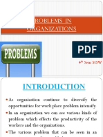 Problems in Organizations
