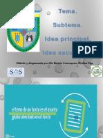 Tema Subtema Idea Principal Idea Secundaria
