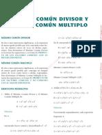 Máximo Común Divisor y Mínimo Común Multiplo Lex