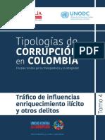 delitos de trafico de influencias y otros en la legislación colombiana