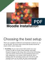 Slide 1 Moodle Installation