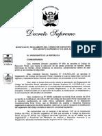 Proyecto de DS Que Modifica El Reglamento Del Codigo de Ejecución Penal 1