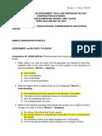 WRITESHOP ON TEST CONSTRUCTION IN PHYSICS 8 ROSALYN S. VELASCO-TNCHS.docx
