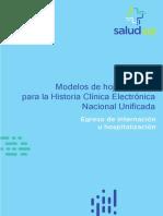 Modelos de Hojas Clínicas Para La HCEN Unificada - Egreso de Internación u Hospitalización - Versión 1.6