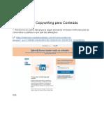 Teste de marketing de conteúdo e copywriting