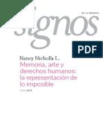 memoria arte y derechos humanos - nancy nicholls