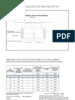 proceso quimico de descomposicion en tanque septico