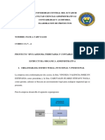 Estructura Organica Administrativa Paola Cabuyales