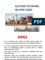 Introduction to Piping and Pipe Lines