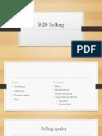 b2b selling