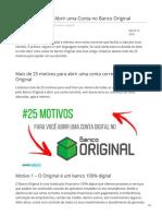 25 Motivos Para Abrir Uma Conta No Banco Original