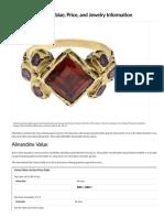 Almandine Garnet Value, Price, And Jewelry Information - International Gem Society