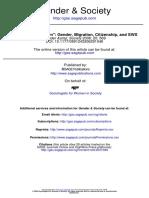 2006 Gender, Migration, Citizenship, And SWS - Sosciologi Omen Society