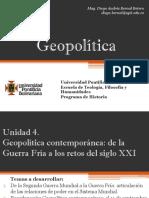 Unidad 4 Geopolítica Contemporánea de la Guerra Fría a los retos del Siglo XXI