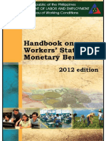 2012 Edition of Handbook on Workers Statutory Monetary Benefits