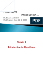 Algo Mod1 Introduction