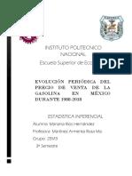VARIABLE GASOLINA (PRECIOS).docx