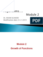 Algo Mod2 Growth of Functions