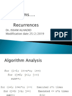 Algo Mod5 Recurrences
