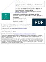 AutomatedFiniteElementAnalysisofComplexDynamicsofPrimarySystemTraversedbyOscillatorySubsystem