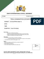 Trial Paper 2 2019