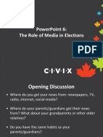 PPT 6 the Role of Media in Elections2