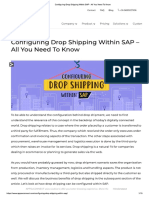 Configuring Drop Shipping Within SAP - All You Need to Know