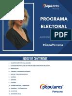 Programa electoral Partido Popular Porcuna Elecciones Municipales 2019