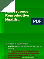 Adolescence Reproductive Health