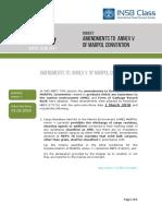 Ammendements to Annex 5