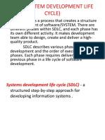 Sdlc (System Development Life Cycle)