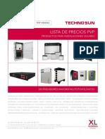 201905 Techno Sun Lista de Precios Solar Fotovoltaica 2019