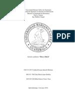 Mapa Conceptual, Articulo Academico y Proyecciones
