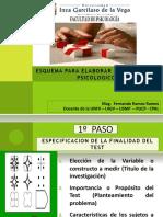 SESION N° 4 PASOS PARA ELABORAR UN TEST PSCICOMETRICO