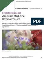 ¿Qué Es La Medicina Ortomolecular_ - 27-10-2011 - Clarín