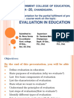 Evaluation in Education