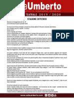 Presentazione Stagione 2019 - 2020