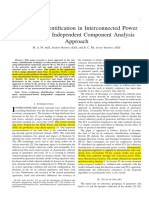 Coherency Identification in Interconnected Power System - An Independent Component Analysis Approach