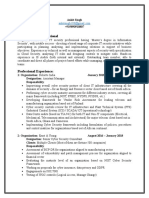 Ankit Singh (+91-9890910807) Resume