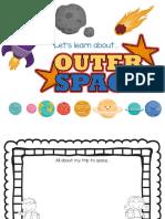 Kindergarten Worksheets Outer Space Workbook