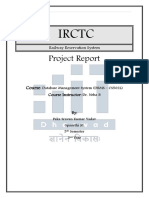 Railway Reservation Project Report