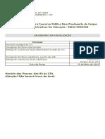 Calendario Fiscalizacao Edital 209 2019