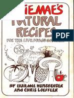 Eydie Maes Natural Recipes With Ocr Text [Orthomolecular medicine]