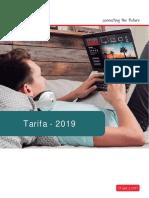 Tarifa Triax 2019