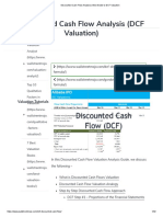Discounted Cash Flow Analysis _ Best Guide to DCF Valuation
